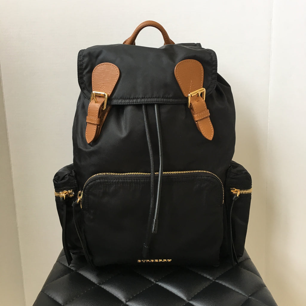 d1832e79a7c3 Burberry Black The Large Rucksack in Technical Nylon and Leather | Forever  Red Soles