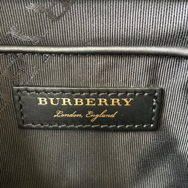Burberry Black The Large Rucksack in Technical Nylon and Leather