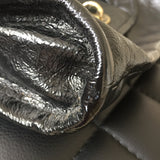 Marc by Marc Jacobs Black Crinkled Leather Posh Turnlock Shoulder Bag