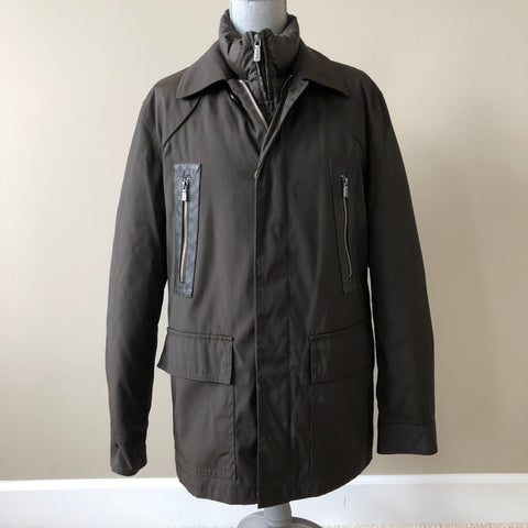 Versace Collection Men's Brown 2 in 1 Down Winter Jacket Size 48