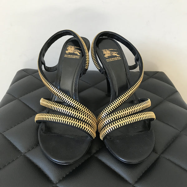 Burberry Zipper Sandals Size 39