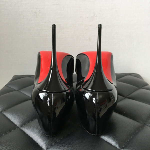 Christian Louboutin Black Patent So Kate Pumps Size 37.5