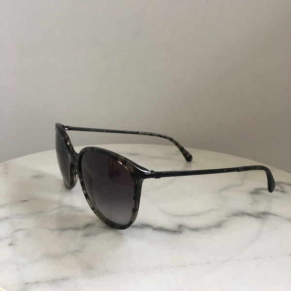 Chanel Black Crystal Bijou Sunglasses