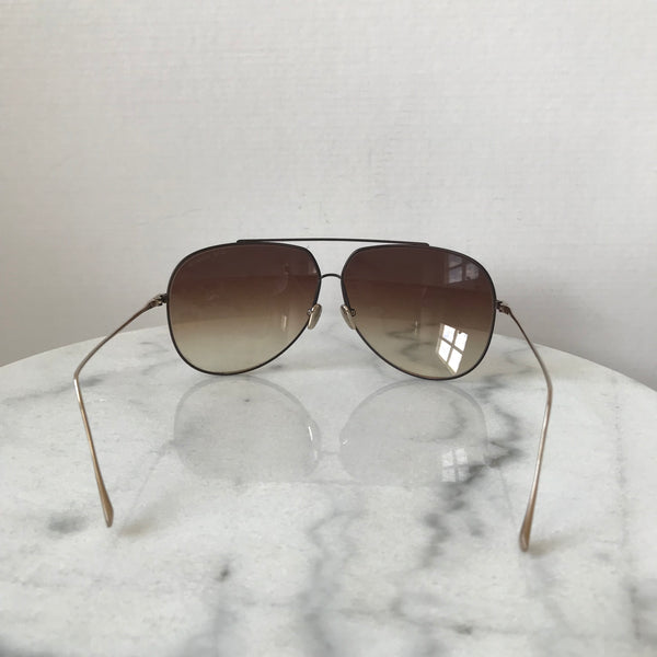 DITA Gold/Brown Condor Aviator Sunglasses