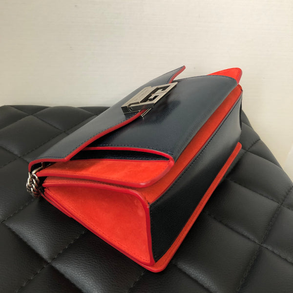 Givenchy Blue/Red Small GV3 Crossbody/Shoulder Bag