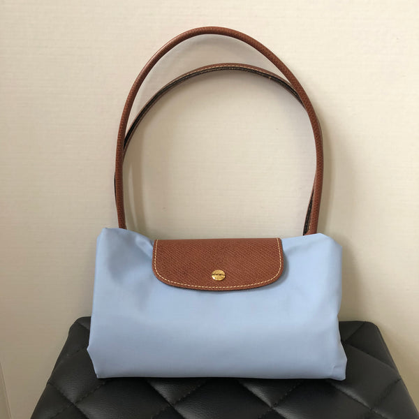 Longchamp 'Large Le Pliage' Light Blue Tote