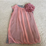 Lanvin Peach Silk/Cotton Top Size Small (2-4)