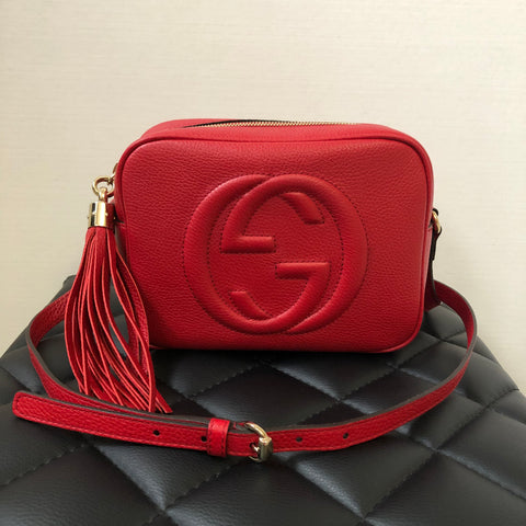 Gucci Red Small Soho Camera Bag