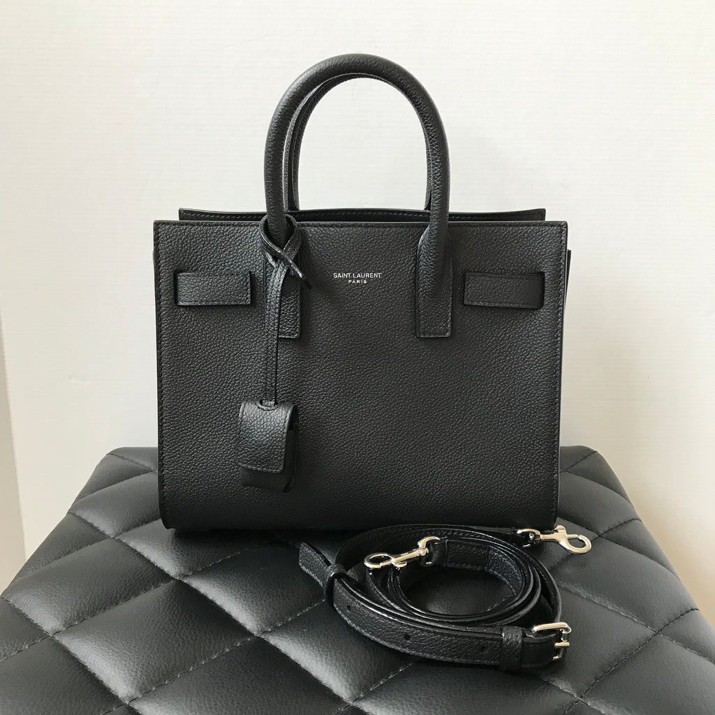 Saint Laurent Black Pebbled Nano  Sac de Jour  Crossbody Bag ... 537697ca32915