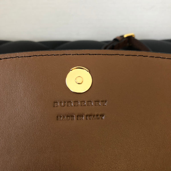 Burberry Brown Check Wallet on Chain