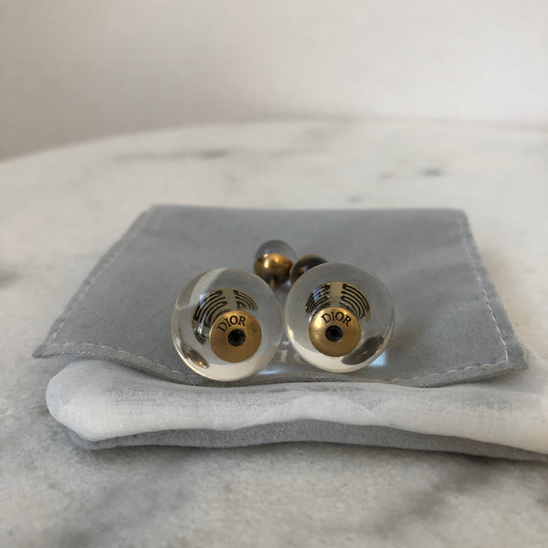 Dior Tribale Clear/Antique Gold Earrings