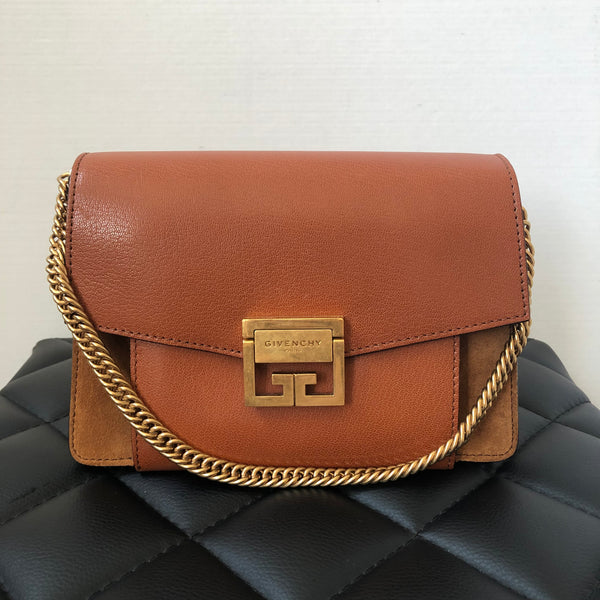 Givenchy Chestnut Brown Small GV3 Crossbody/Shoulder Bag