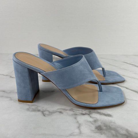 GIANVITO ROSSI Light Blue Stonewash Suede Sandals Size 39