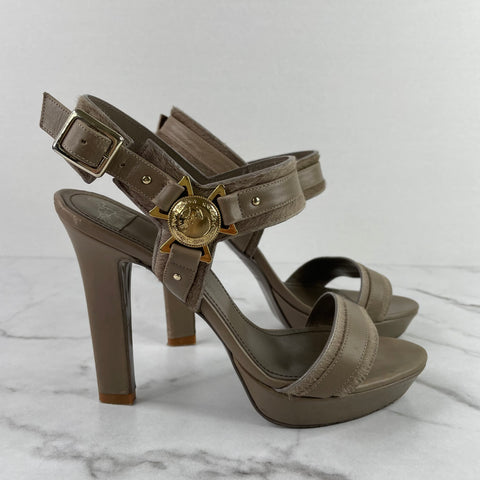Versace Collection Taupe Sandals Size 38