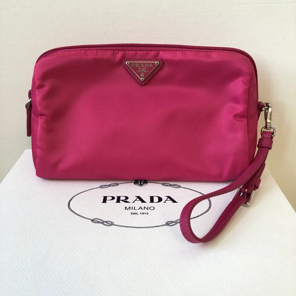 Prada Pink Fabric Cosmetic Pouch