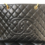 Chanel Black Caviar GST with Gold Tone Hardware