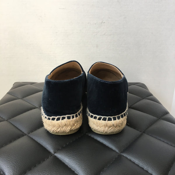 Chanel Dark Navy/Black Velvet Espadrilles Size 40