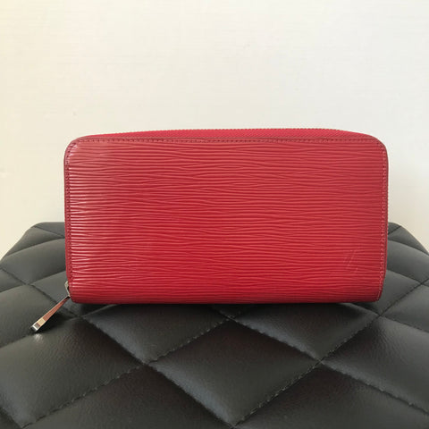 Louis Vuitton Epi Carmin (Red) Zippy Wallet