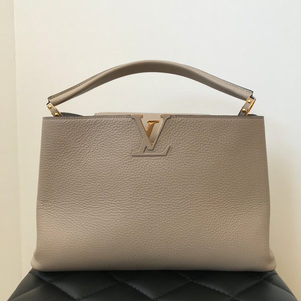 Louis Vuitton Galet Taurillon Leather Capucines MM Bag