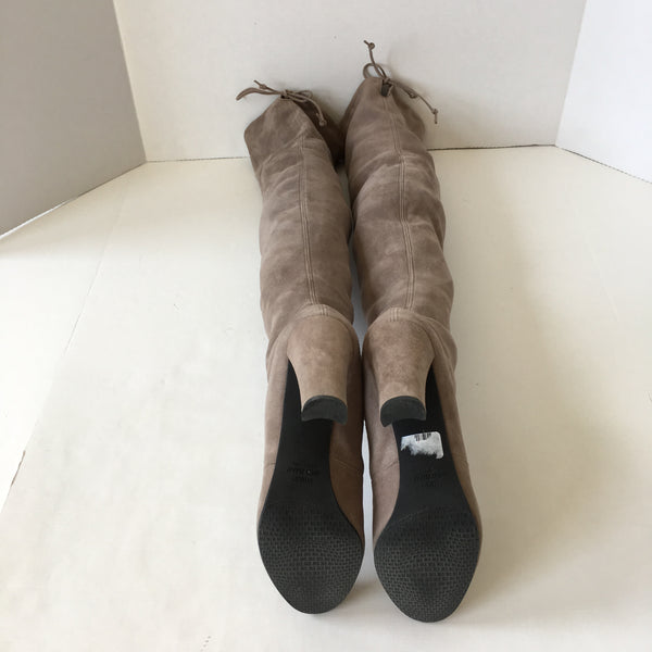 Stuart Weitzman Highland Topo Grey Suede Over the Knee Boots Size 8