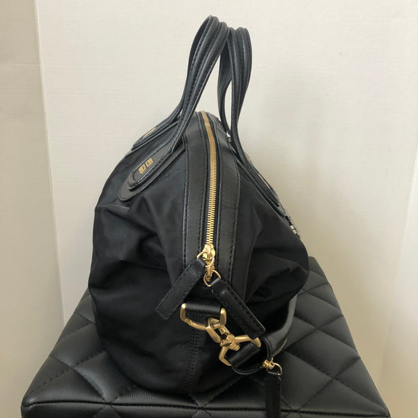 Givenchy Black Nylon/Leather Crystal Nightingale