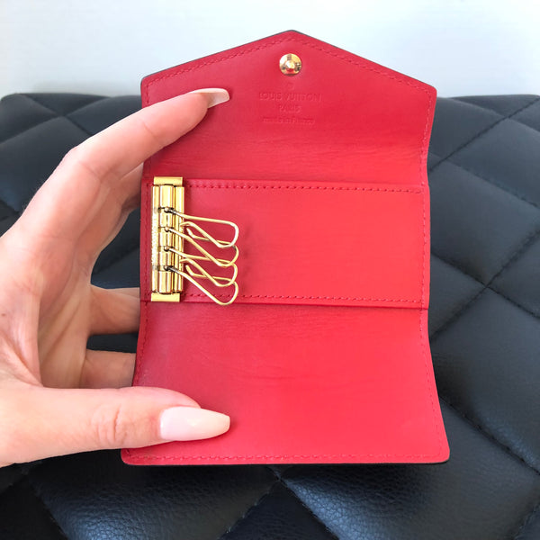 Louis Vuitton Red Vernis 4 Key Holder