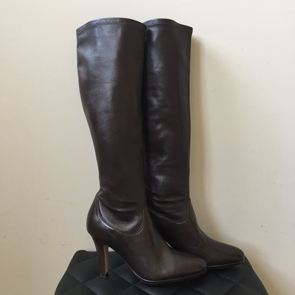 Cole Haan Dark Brown Jolie Nike Air Stretch Boots Size 6