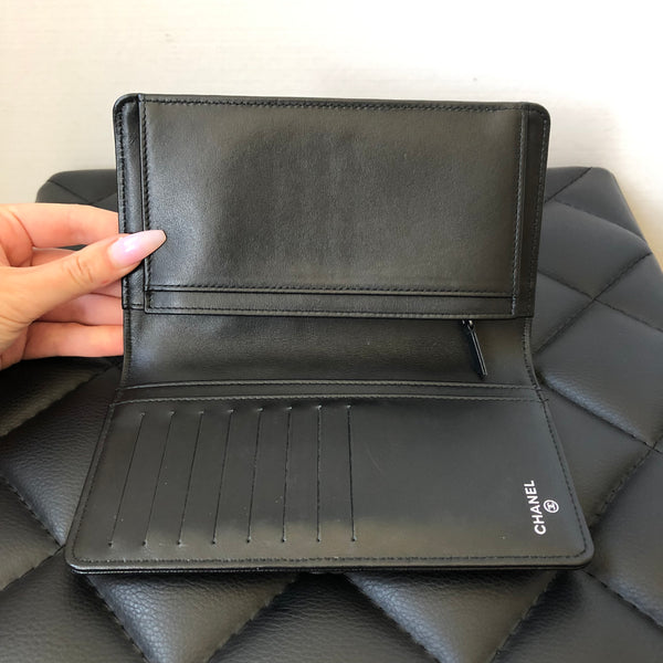 Chanel Black Caviar Boy L-Yen Wallet