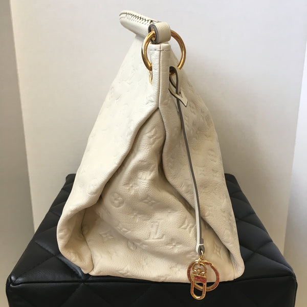 Louis Vuitton Monogram Empreinte Artsy MM Shoulder Bag Creme/Ivory