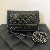Chanel So Black Patent Boy WOC