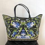 Givenchy Floral Canvas Antigona Shopping Tote with Pouch