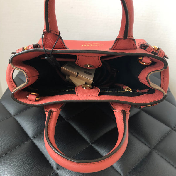 "Burberry ""Cinnamon Red"" Baby Banner Crossbody Bag"