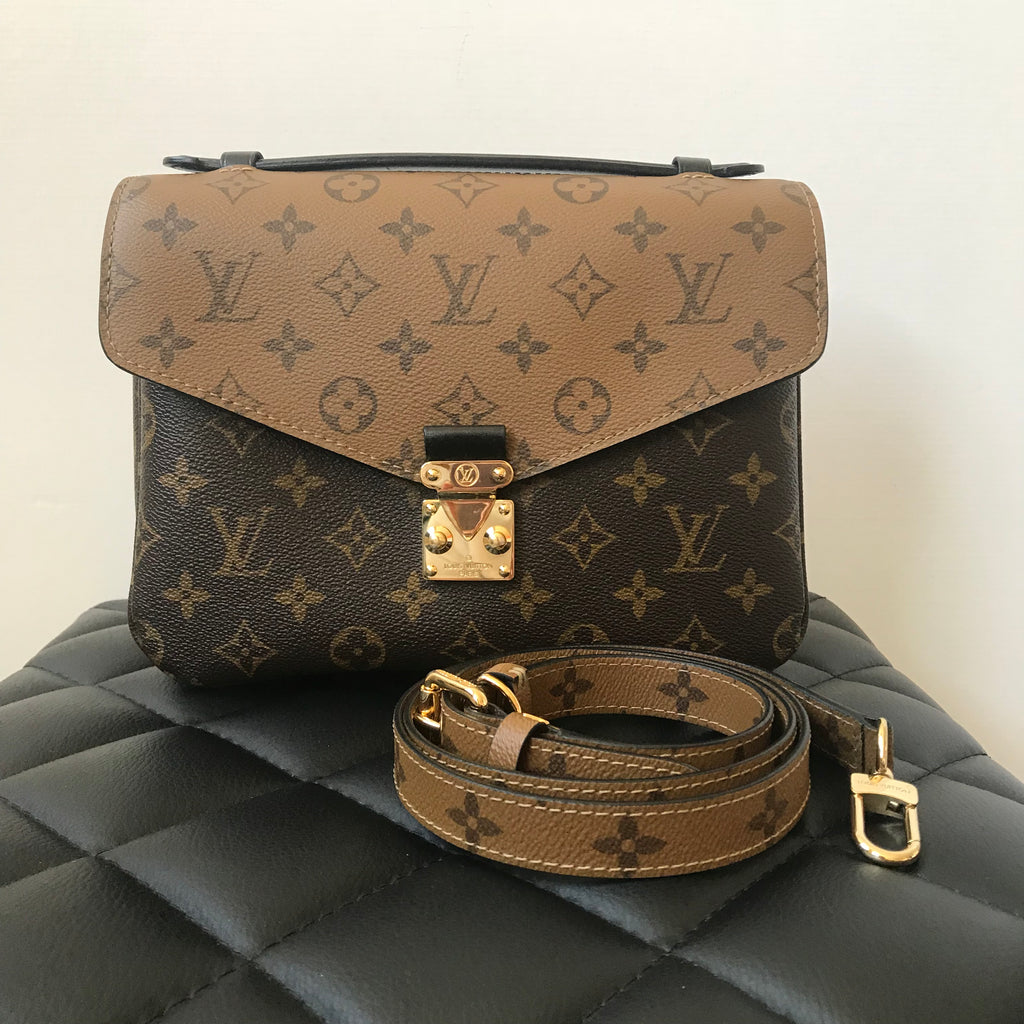 308dc6242ab5 Louis Vuitton Pochette Metis Monogram Reverse Canvas Crossbody Bag ...