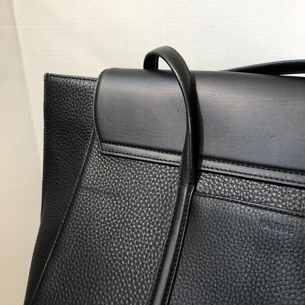 Mackage BARTON Black Classic leather tote