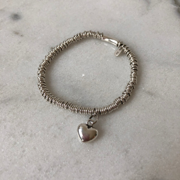 Links of London Sterling Silver XS Sweetie with Mini Heart Charm