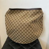 Gucci Monogram Brown Hobo Bag