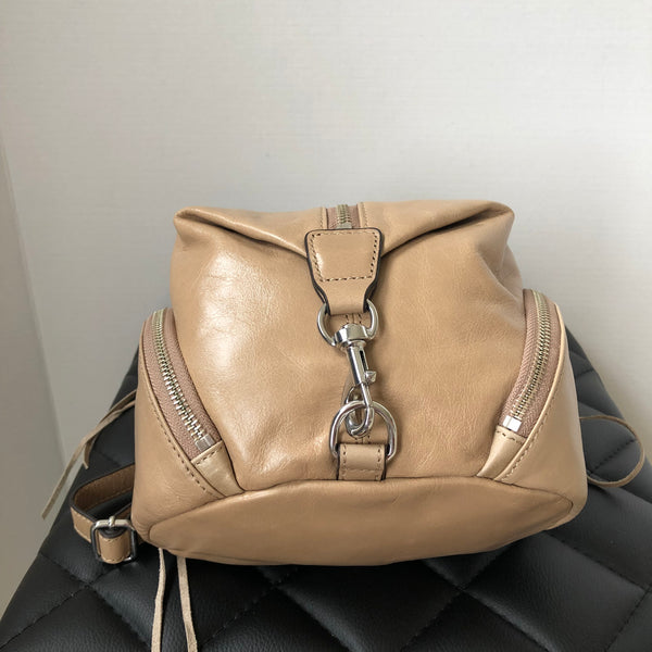 Rebecca Minkoff Beige Mini Julian Backpack