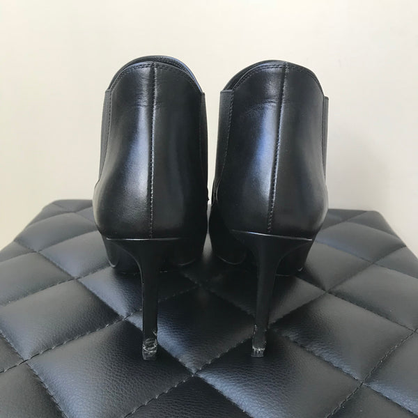 Saint Laurent Classic Black Paris 80 Chelsea Ankle Boots Size 34