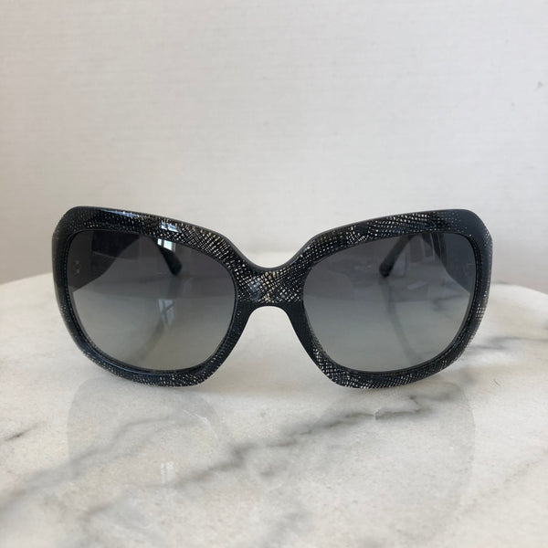 Chanel Blue/Black/Clear Lace Sunglasses
