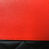 Tory Burch Coral Red Shoulder Tote