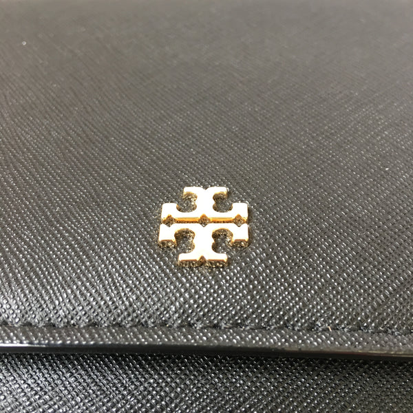 Tory Burch Black Saffiano Wallet on Chain