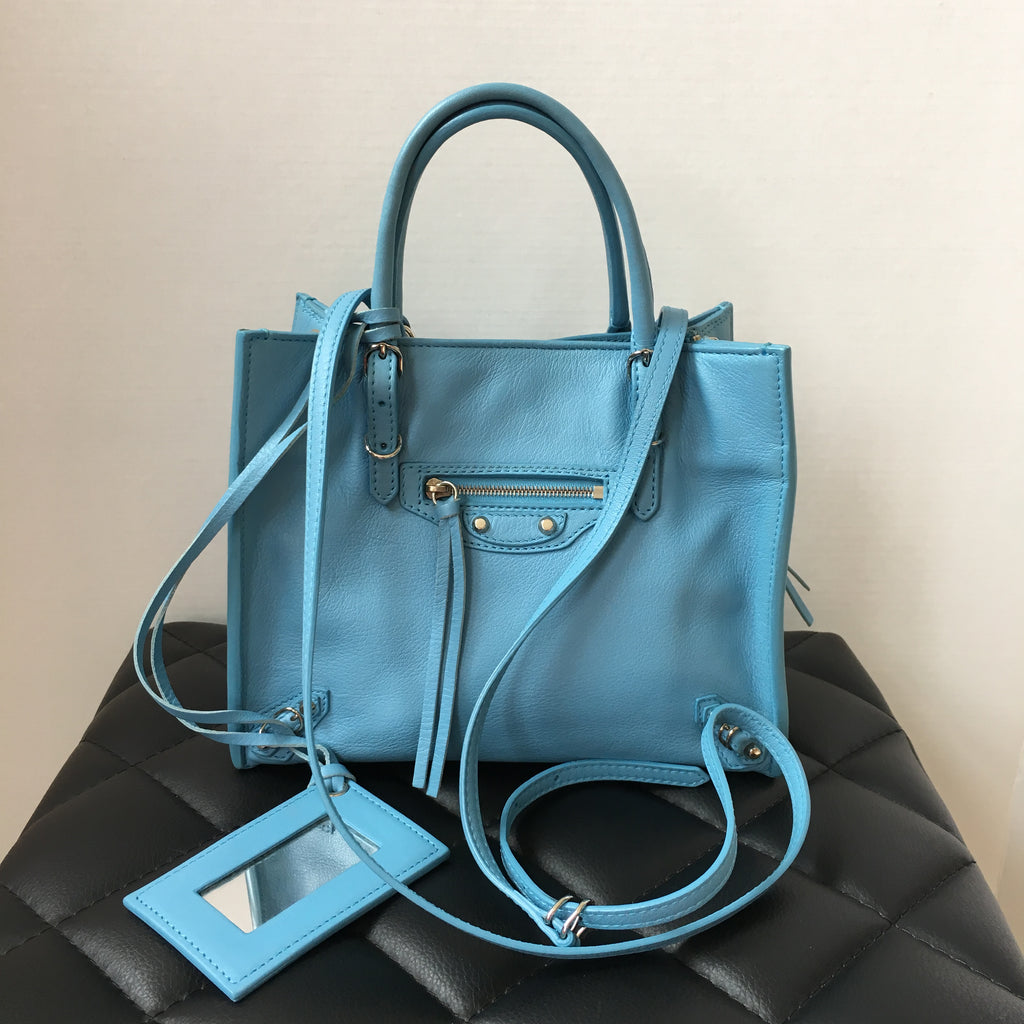 50597fc89b432 Top 10 Punto Medio Noticias | Balenciaga Bag Mini Blue
