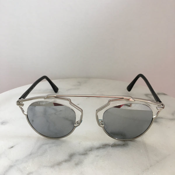 Dior So Real Silver Sunglasses