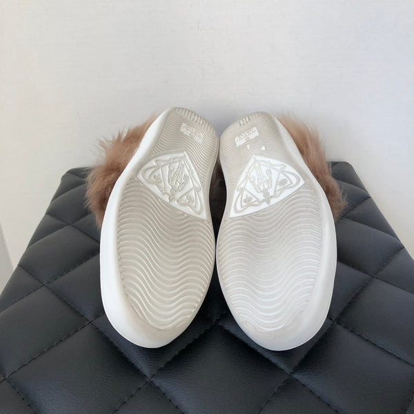 Gucci Ace Bee Fur Sneakers Size 35