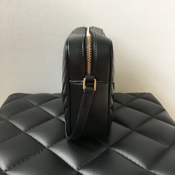 Saint Laurent Black Lou Camera Tassel Crossbody Bag