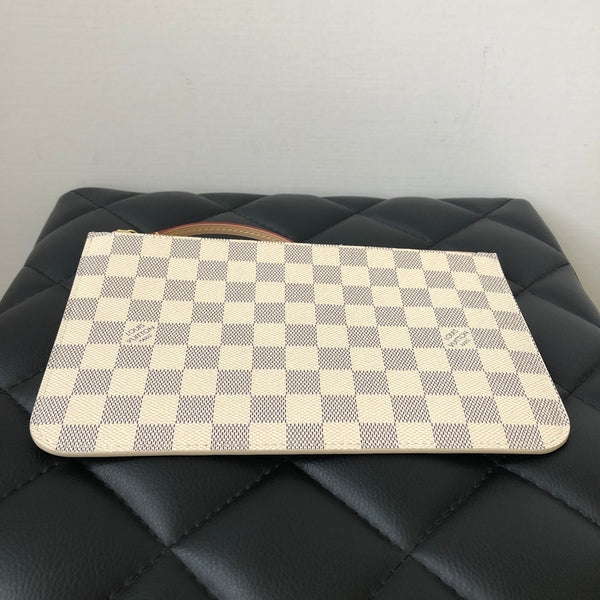 Louis Vuitton Damier Azur Rose Ballerine Wristlet/Clutch
