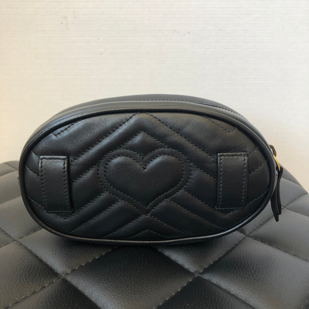 17398734e578fe Gucci Black GG Marmont matelassé leather belt bag | Forever Red Soles