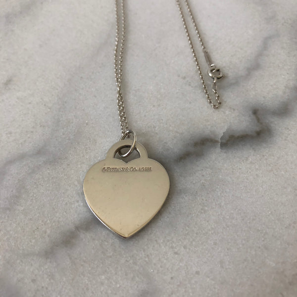 Tiffany Heart Sterling Silver Long Chain Necklace