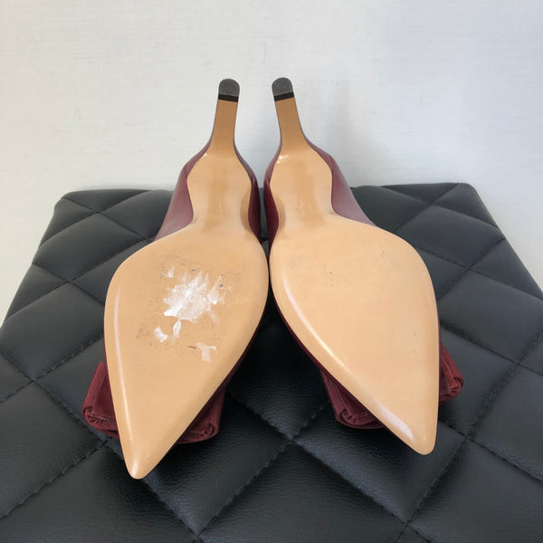 Ferragamo Burgundy Pumps Size 7