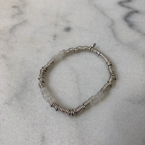 Links of London Sterling Silver Bead Bracelet Size Small